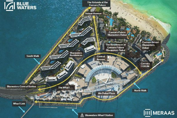 Bluewaters Island is opened to public by the property developer Meraas